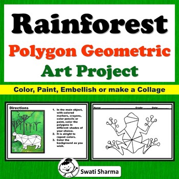 Rainforest Animals, Polygon, Geometric  Art Project