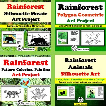 Rainforest Art Project, Elementary Art Project Bundle