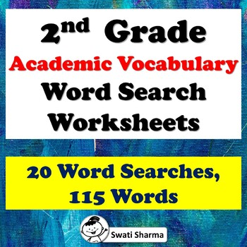 2nd Grade, Academic Vocabulary Word Search Worksheets