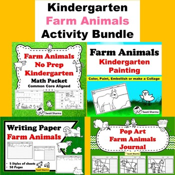 Kindergarten Farm Animals  Activity Bundle