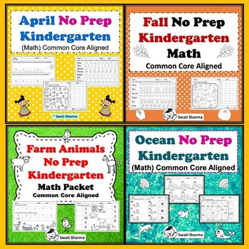 Kindergarten Math, Year Long Bundle