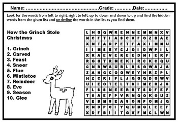 2nd Grade Literature, Word Search Worksheets, Year Long, No Prep, Sub Plans