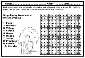 3rd Grade Literature, Word Search Worksheets, Year Long No Prep Sub Plans