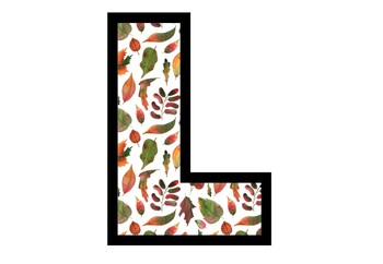 Fall, Leaves, A to Z, 0 to 9, Bulletin Board Letters and Numbers, Set 2
