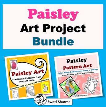 Elementary Paisley Art Project Bundle, Art Sub Plan, Classroom Display