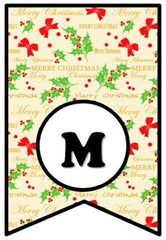 Merry Christmas, Christmas Bulletin Board Sayings Pennant Banner Christmas Decor