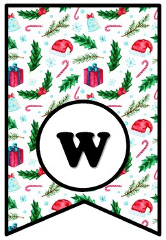 We Wish You A Merry Christmas, Bulletin Board Sayings Pennant Banner Class Decor