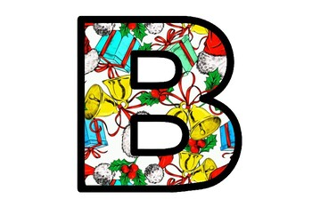 Christmas Bulletin Board Letters, Classroom Décor, Set 3