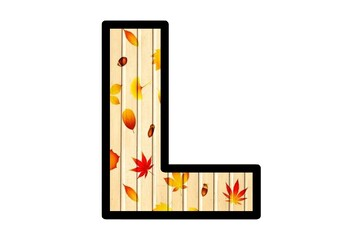 Fall Leaves Bulletin Board Letters, Classroom, Door Decor