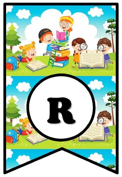 READING IS EVERYWHERE, Kindergarten, PreK Bulletin Board Sayings Pennant Letters