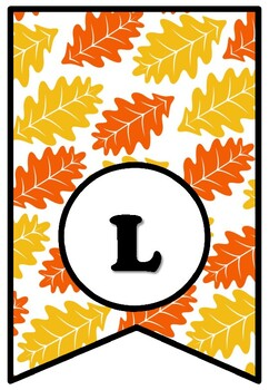 LEAF THROUGH A GOOD BOOK, Bulletin Board Sayings Pennant Letters, Fall, Reading