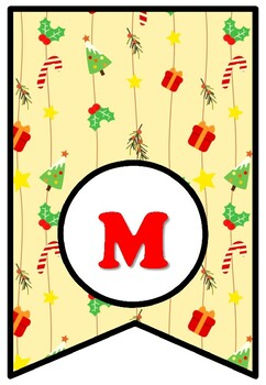 Merry Christmas, Bulletin Board Sayings Pennant Letters, Christmas Decor Posters