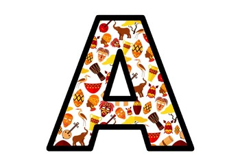 Africa, Tribal, Bulletin Board Letters, Alphabet Posters Classroom Decor