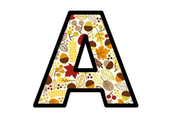 Autumn, Acorns, Leaves, Fall, Bulletin Board Letters, Alphabet Posters Decor