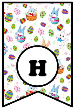 Happy Hoppy Easter, Bulletin Board Sayings Pennant Letters, Spring, Easter Bunny