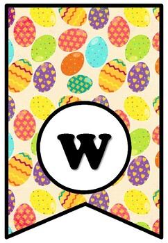 We're Eggcited About Spring, Easter Bulletin Board Sayings Pennant Letters