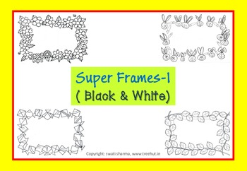 Scrapbook Paper, Black and White Frames