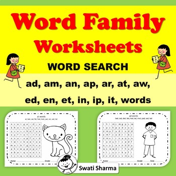 Word Family Word Search Worksheets