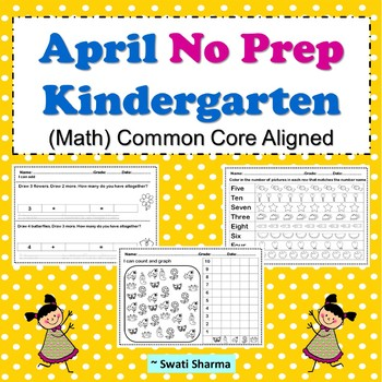 Spring, April No Prep Kindergarten Math Packet
