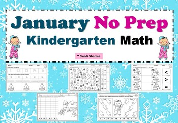 January Kindergarten No Prep Math