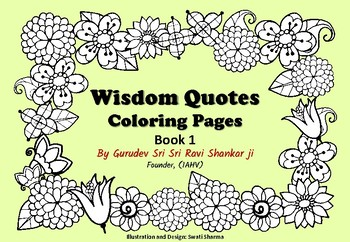 Wisdom Quotes Coloring Pages for Mindfulness