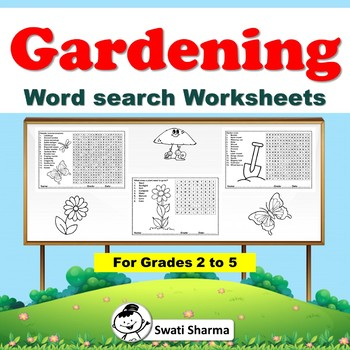 Spring, Gardening, Plants and Trees Word search for grade 2 to 5