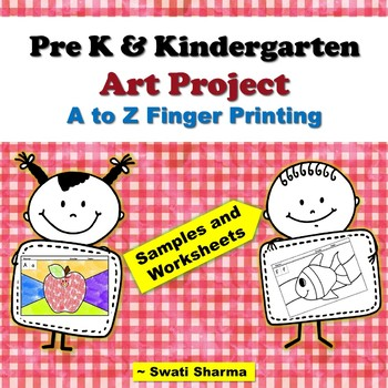 Pre-K and Kindergarten, Year Long ABC Painting/Printing Art Project