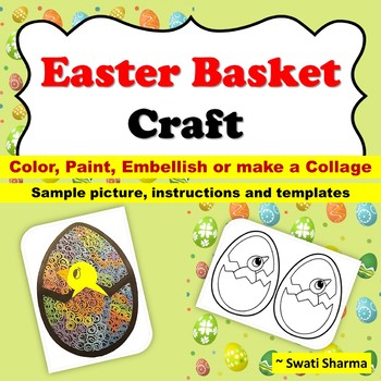 Easter Basket Template Craft