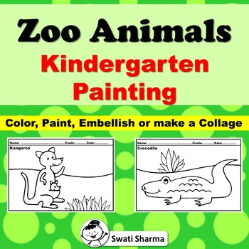 Zoo Animals Kindergarten Painting