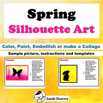 Spring Silhouette Painting Art Project