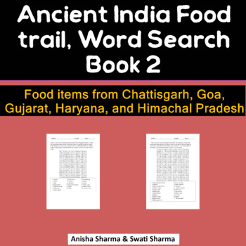 Ayurvedic Ancient India Food, Wordsearch
