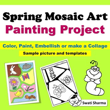 Spring Mosaic Art Painting Project