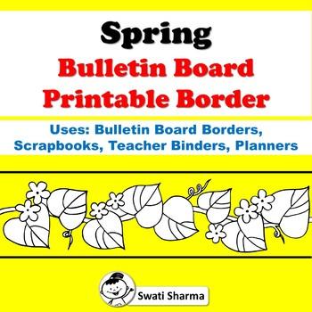 Spring Bulletin Board Printable Borders For Coloring Worksheet By Swati Sharma