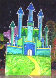 Castle Stage Prop Decoration for School