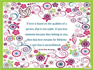 Quote on Love, by Sri Sri Ravi Shankar