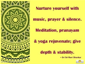 Quote on Meditation by Sri Sri Ravi Shankar