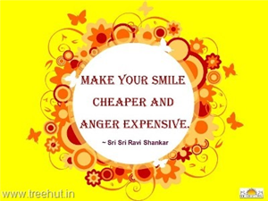Quote on Smile by Sri Sri Ravi Shankar