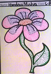 Dot Art Flowers