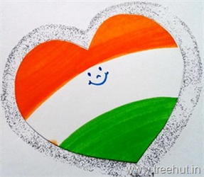 Independence Day Tri Colour Heart Badge India