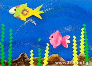 Wax Resist Painting Fishes