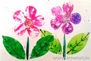 Paper Cutout Printing Flower Art Ideas