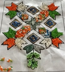 Tri Color Rangoli