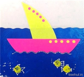 Paper Boat Craft for Preschool
