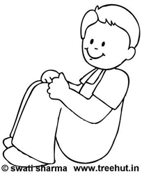Cute Boy Coloring Pages