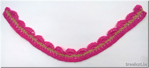 Crochet Design Idea: Pink Lace Pattern
