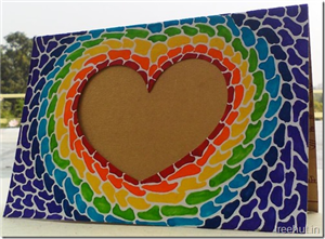 Paper Mosaic Art Heart Photo Frame