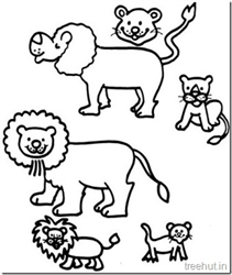 Free Cute Lion Coloring Pages