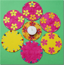 Diwali Rangoli Decoration with Paper