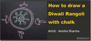 Video How to make a Traditional Diwali Rangoli with Chalk in 90 Seconds