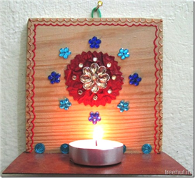 Tea Light Hanging Holders From Wood DIY Craft